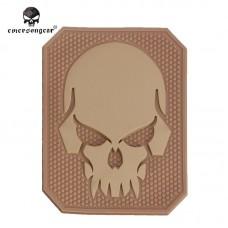 PVC 3D Emerson 'Skull' TAN